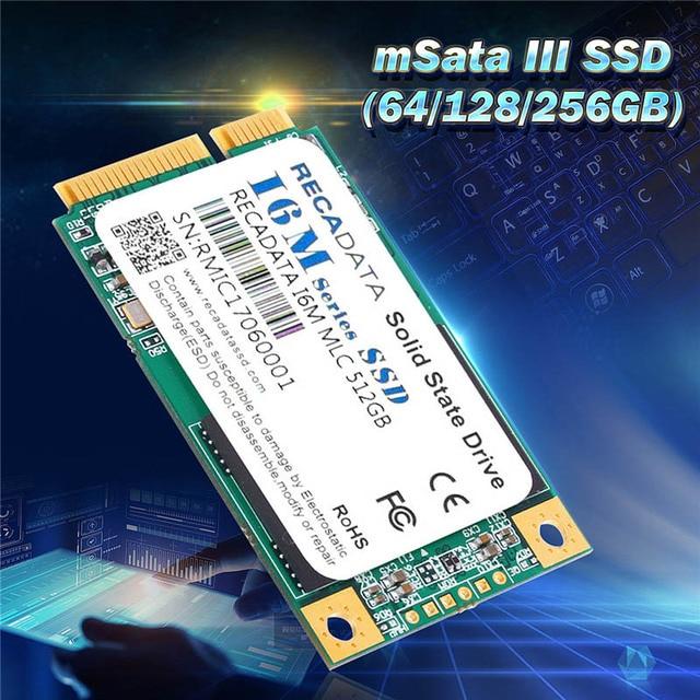 Recadata Msata Iii Mlc Flash Internal Solid State Drives 64gb 128gb