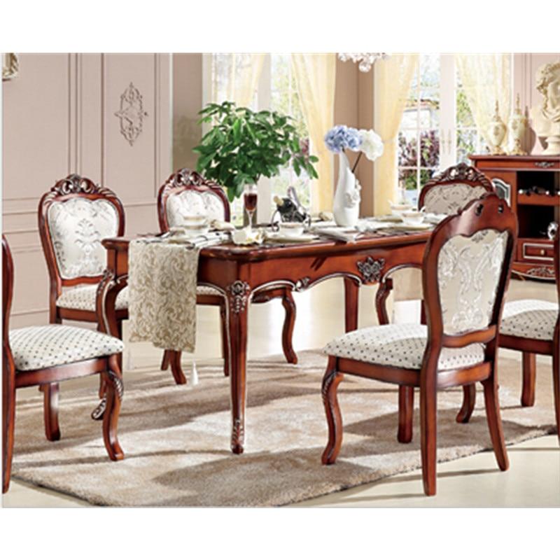 US $635.0 |High end classico tavolo da pranzo e sedia-in Set per soggiorno  da Mobili su AliExpress