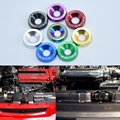JK Racing Aluminum Universal Neo Chrome JDM LOGO Fender Washer 6MM Hole Engine Dress Up Kit