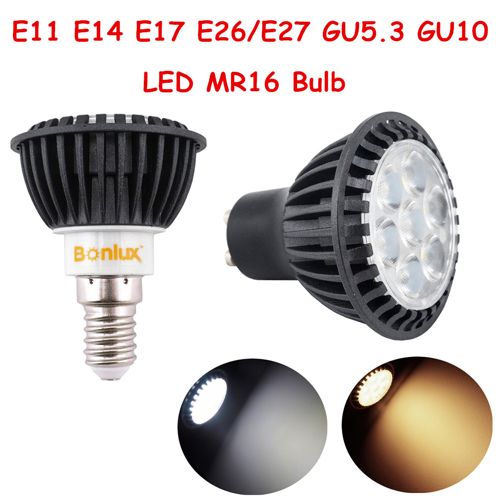 3mr16 E26 W Mr16 Flood Led Light Bulb: 5W E11 E17 GU5.3 GU10 LED Spotlight E14 E26/E27 MR16 LED