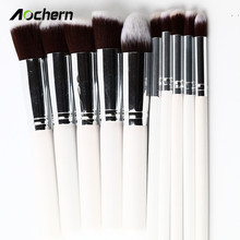 Aochern 10pcs/set High Quality New Makeup Brushes Beauty Cosmetics Foundation Blending Blush Make up Brush tool Kit Set #1004