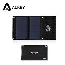 AUKEY 14 Вт Солнечное Зарядное Устройство с Двумя Usb-порт для Apple iPhone, Android (Складной, Портативный, AiPower Адаптивные Технологии Зарядки)