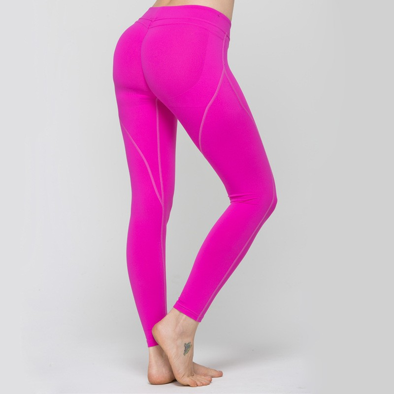 7e012666f2 UK Women Running Yoga Workout Slim Fit Sport Pants Ladies Fitness Leggings  Gym Exercise Sports Tight Trousers Wear Pink