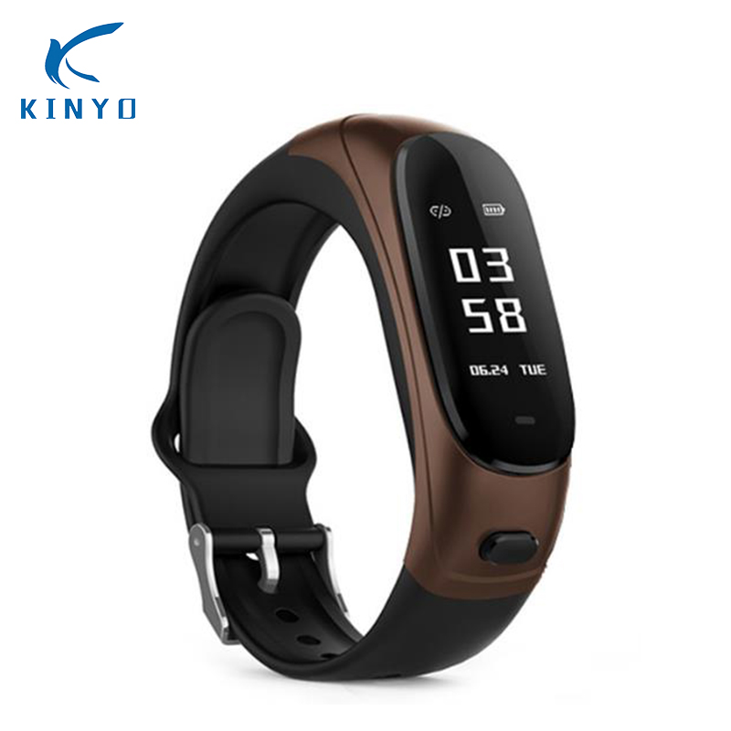 Wireless Bluetooth Earphone Smart Band 2 in 1 Earband Smart Bracelet Wristband Heart Rate Blood Pressure Monitor pk mi band 2 newest v08 wireless earphone smart band 2 in 1 bluetooth headset wristband heart rate blood pressure monitor smart bracelet