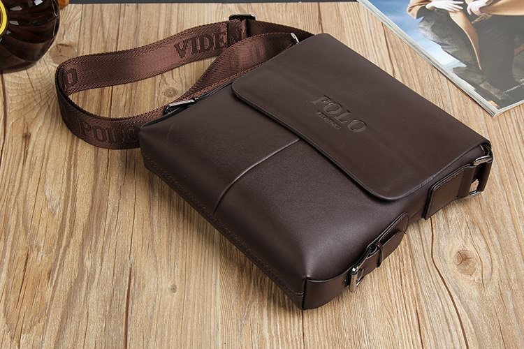 Online Shop Black Small Shoulder Bags For Men Leather Messenger ...