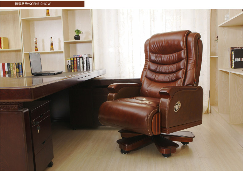 Luxury boss chair. Can lie leather of large chairs. High ...