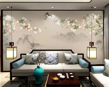 beibehang Custom size Begonia flower hand-painted mere flower bird landscape background wall paper decorative painting wallpaper home decoration 3d landscape wallpaper stone wall flower lilac flower decorative painting decorative brick wall