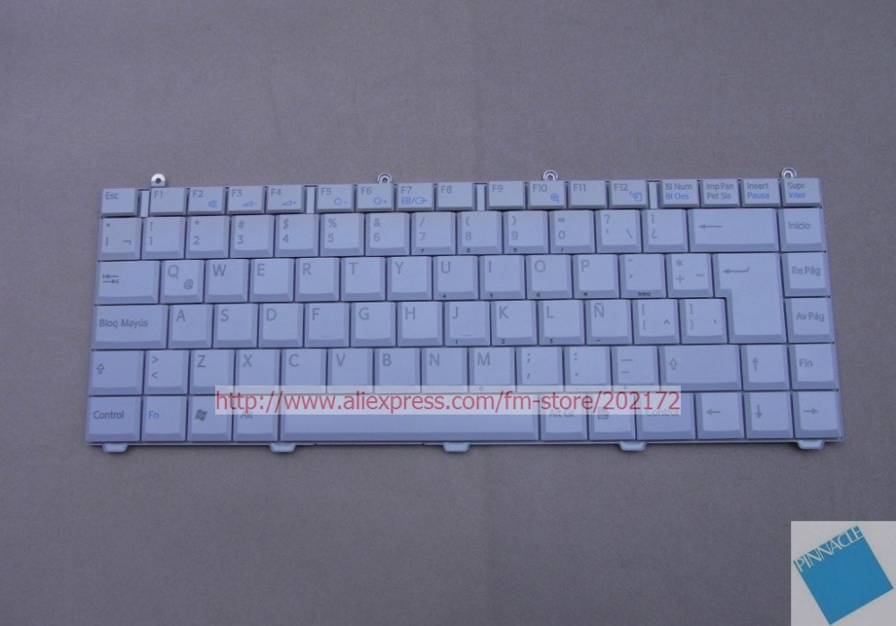 Brand New White Laptop  Notebook Keyboard 147915461  KFRMBE221A For SONY VAIO VGN-FS PCG 7D3P series (Spain) free shipping new russia white laptop keyboard for msi wind u130 u135 u135dx u160 u160dx ru white frame laptop keyboard