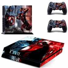 Captain America PS4 Skin Sticker