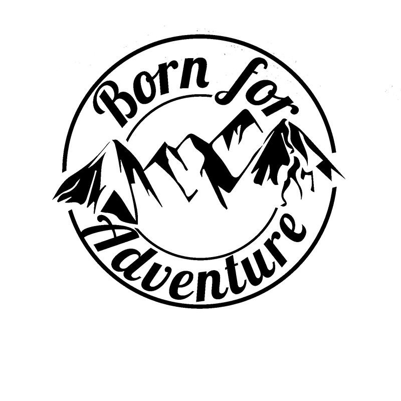 все цены на Cool Graphics Born For Adventure Vinyl Decal Sticker Car Caravan Camper Van Motorbike Laptop онлайн
