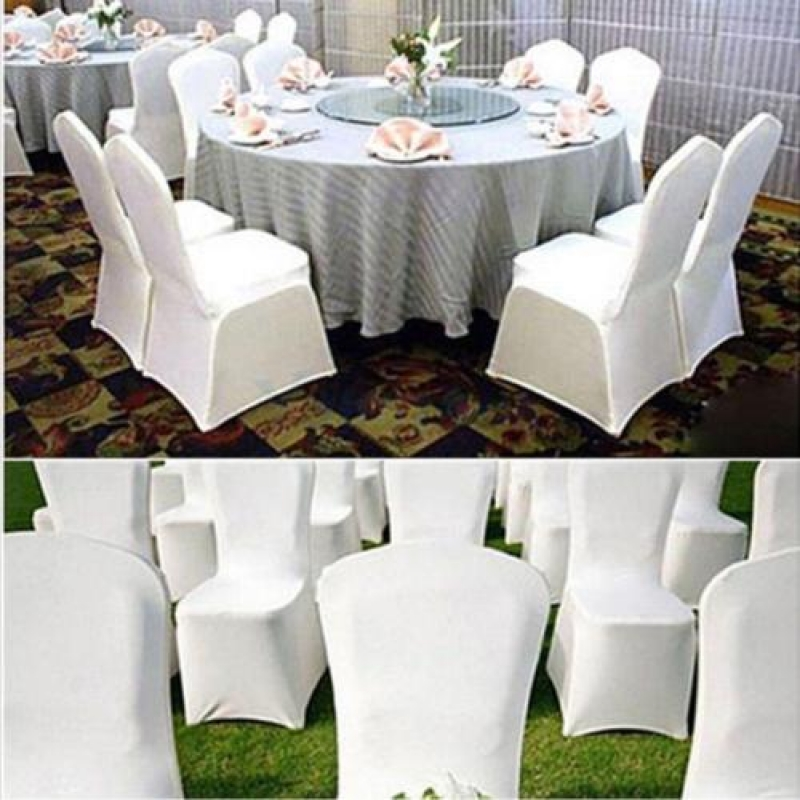 100pcs Universal Spandex Chair Covers for Wedding Party White US stock