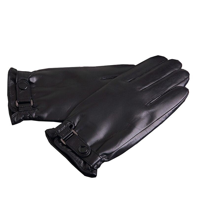 KLSS Brand Genuine Leather Men Gloves High Quality Goatskin Gloves Winter Plus Velvet Fashion Trend Sheepskin Driving Gloves J62 in Men 39 s Gloves from Apparel Accessories