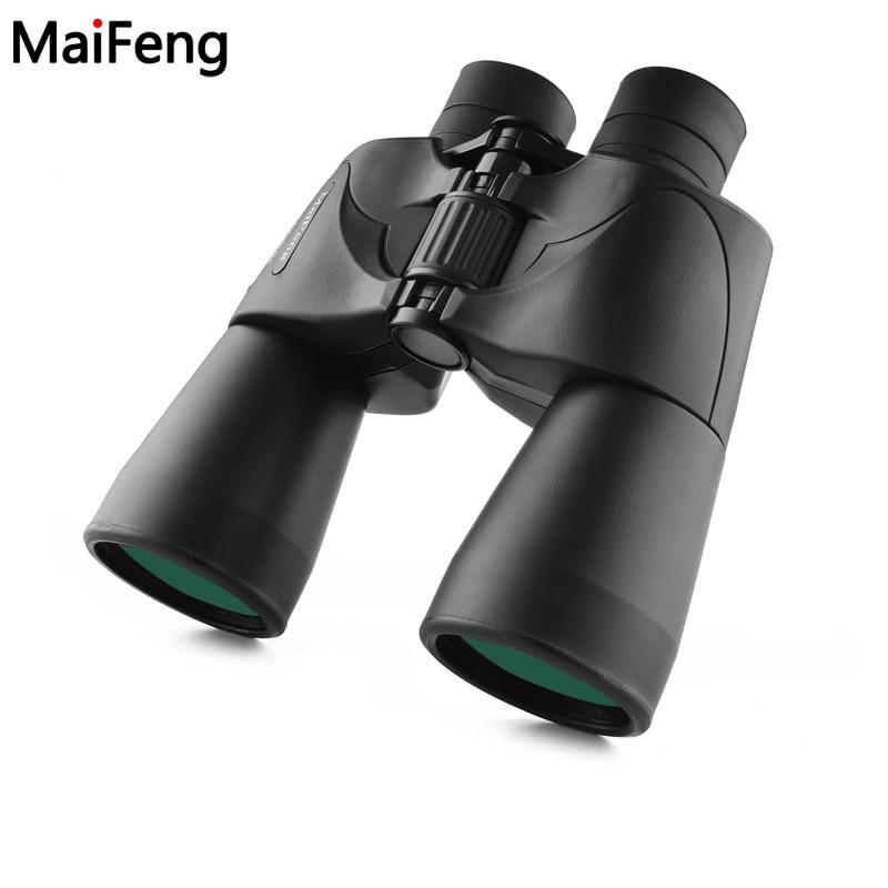 10X50 Binocular Telescope FMC High Times HD All-optical Green Film Waterproof Hunting  Field-glasses Scope high performance night vision binocular telescope 8x32 bak4 prism fmc green film optical len 96m 1000m nice gift for children
