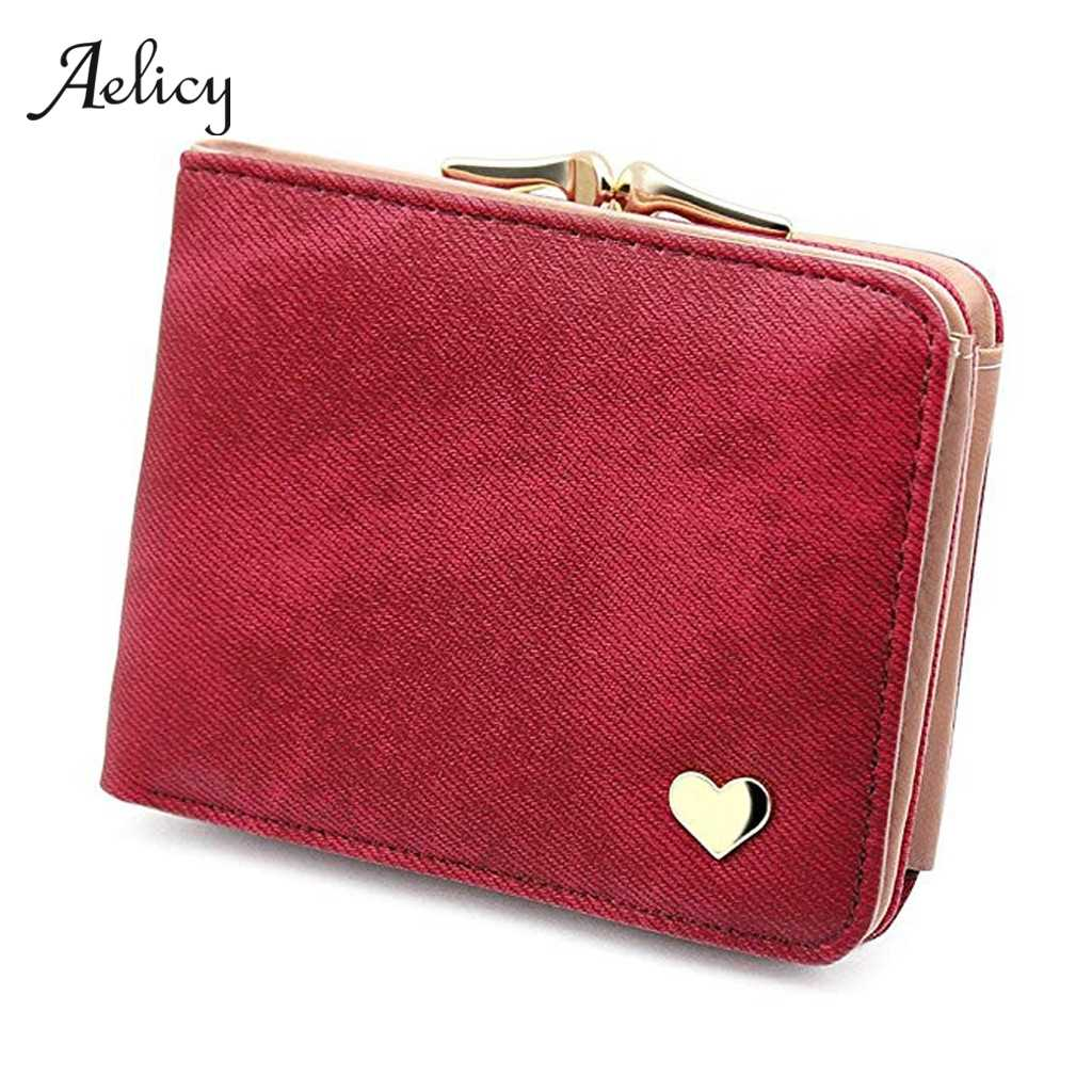 Aelicy Fashion Wallet Women Small Women Purse Simple Casual Lady Coin Purse Short Designer Mini Girl Wallet Card Holders 605