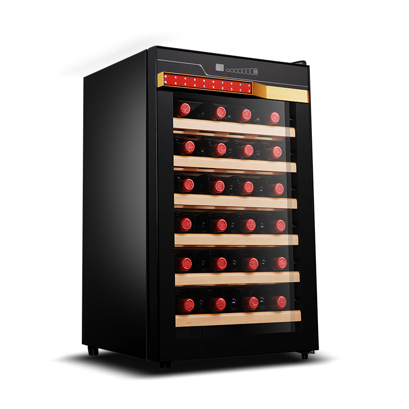 Fuxin Red Wine Cabinet 28 Bottles Of Electronic Thermostatic Ice Bar Household Mini Refrigerated Cigar Cabinet Cool Mini Fridge