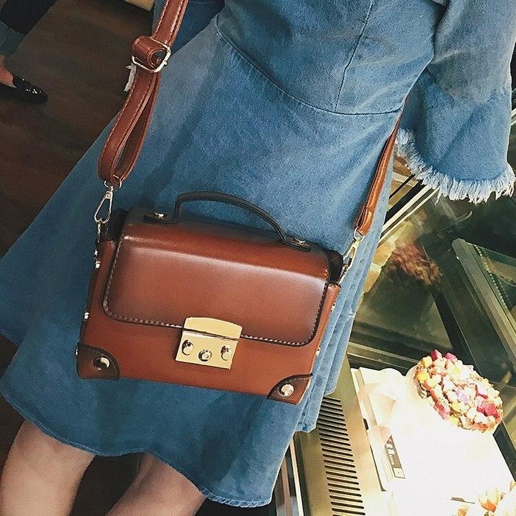 Vintage Leather Handbags Women Crossbody Shoulder Messenger Bags Famous Brands Luxury Designer For Bolsa Feminina Sac Mujer 2018