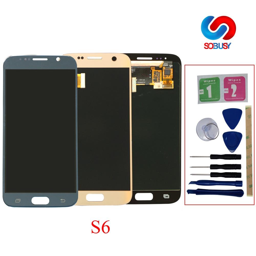 Original Super AMOLED LCD pour SAMSUNG Galaxy S6 LCD Affichage G920 G920F SM-G920F G920FD Écran Tactile Numériseur Remplacement