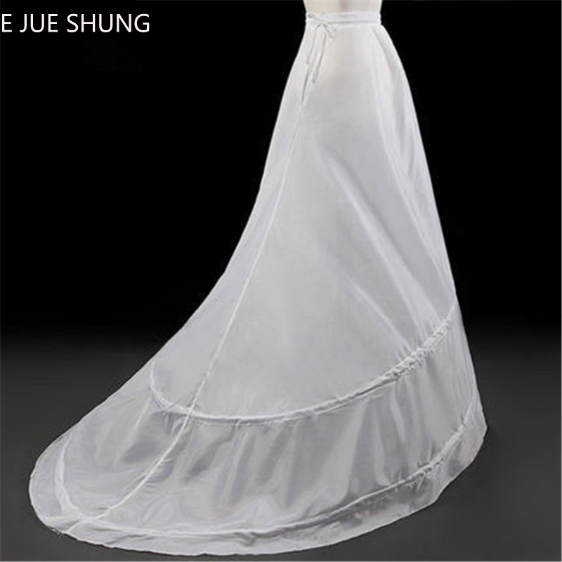 E JUE SHUNG 2 Hoops A-line Wedding Petticoat Crinoline Slip Underskirt For Wedding Dress Wedding Accessories