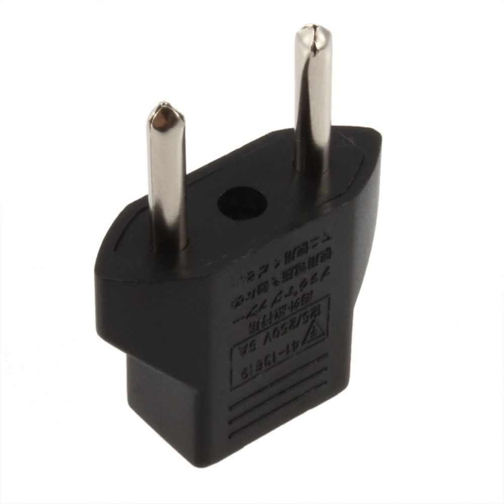 1 Uds Universal de viaje o a la UE conector de CA para EU Adaptador convertidor EE.UU. a Europa toma de corriente de pared de carga de salida de enchufes