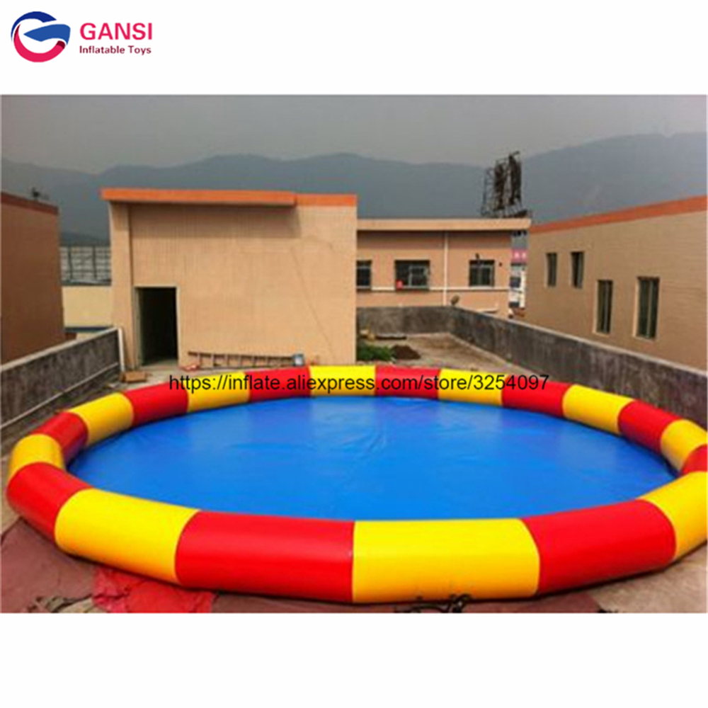 8m diameter inflatable swimming pool for adult and kids high quality summer moving floating swimming pool inflatable equipment
