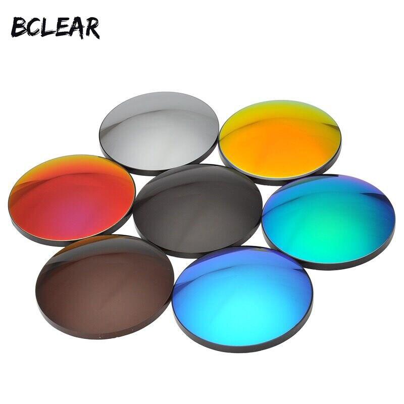 BCLEAR 1.61 Mode Coloré Polarisées UV400 Miroir Réfléchissant Lunettes De Soleil Sur Ordonnance Lentilles Conduite Myopie lunettes de Soleil
