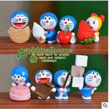 2018 Fashion 8pcs/set Doraemon Diy Microlandschaft Home Decoration Accessories Cartoon Small Decorative Article