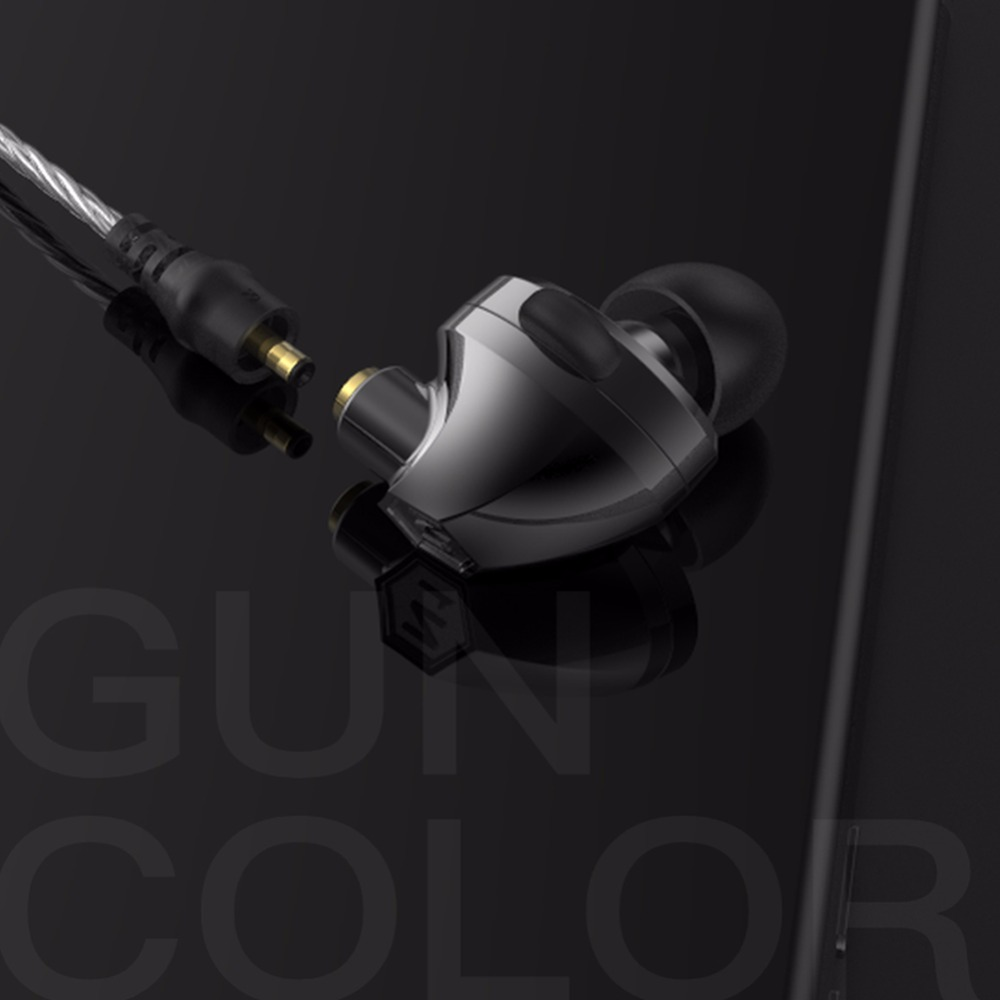 VJJB N1 Double Unit In-ear Earphone Two Unit Driver Earbuds DIY HIFI Bass Subwoofer Headset with Mic цены онлайн