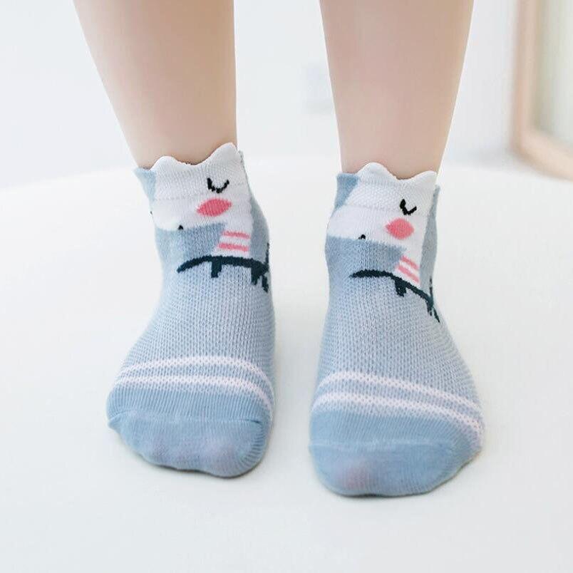 5 Pairs/lot Baby Socks Summer Mesh Breathable Cotton Infant Socks Children Kids Boys Girls Short Sock 0-8 Years 3