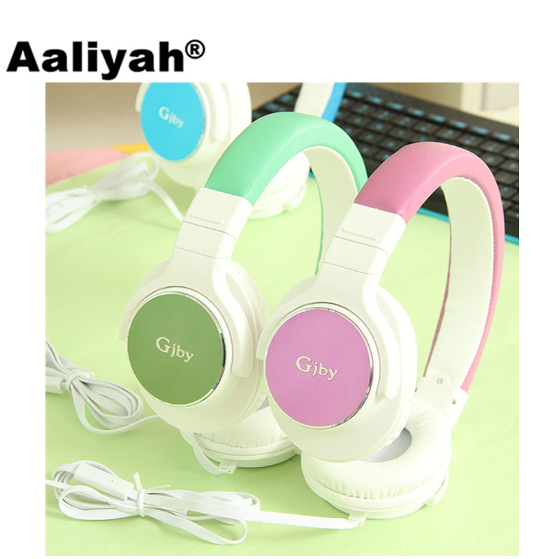 [Aaliyah] GJ-10 Wired Headphone with Microphone Foldable Headset for Computer Pink Headphones Headset for Mobile Phone For Girls original creative aurvana live headphone subwoofer headset with biological diaphragm for computer and mobile phone