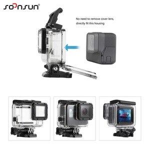 Image 2 - SOONSUN 45M Custodia Impermeabile Caso di Immersione Subacquea + Dive Lenti Kit Filtro per GoPro hero 5 6 7 nero Go Pro 7 Accessorio