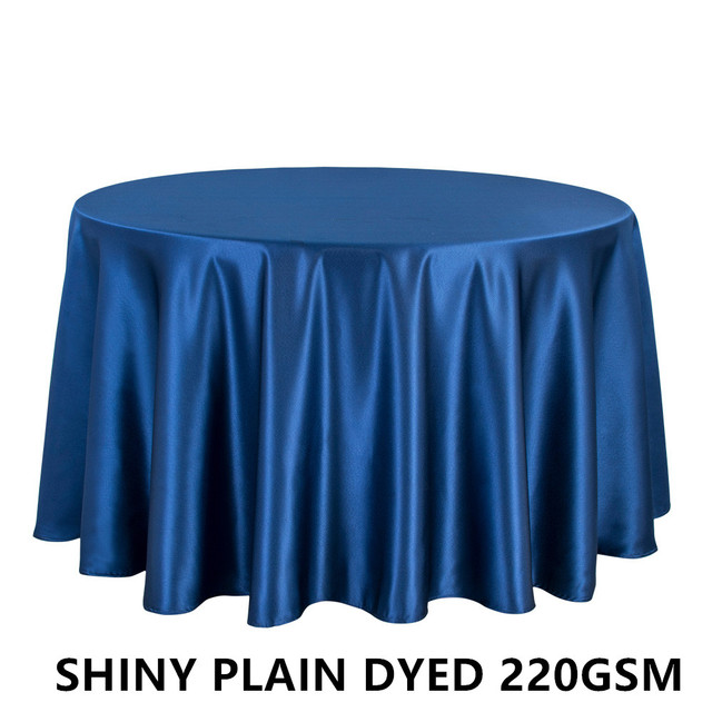 1PCS Polyester Thick Satin Tablecloth For Wedding Hotel Banquet Decor Round  Table Cloth Dining Table Cover