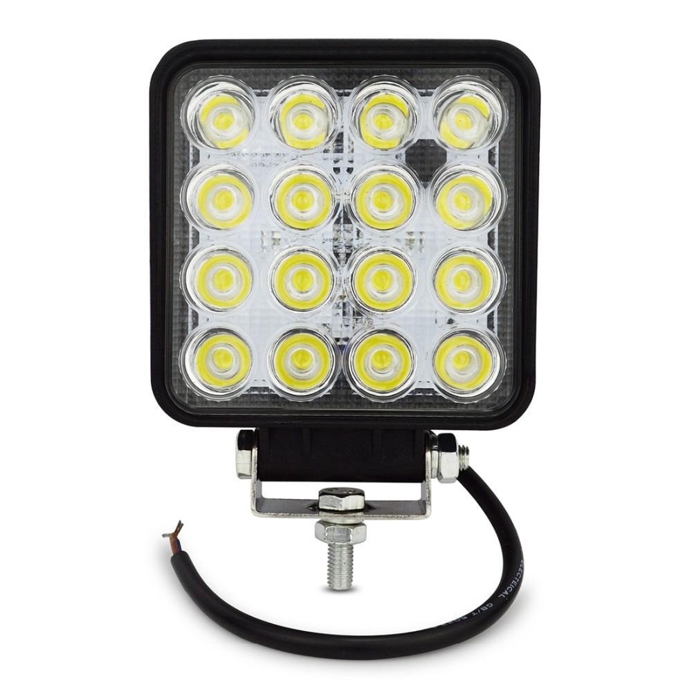 1x Safego 48W світлодіодні робочі ліхтарі - Автомобільні фари - фото 1