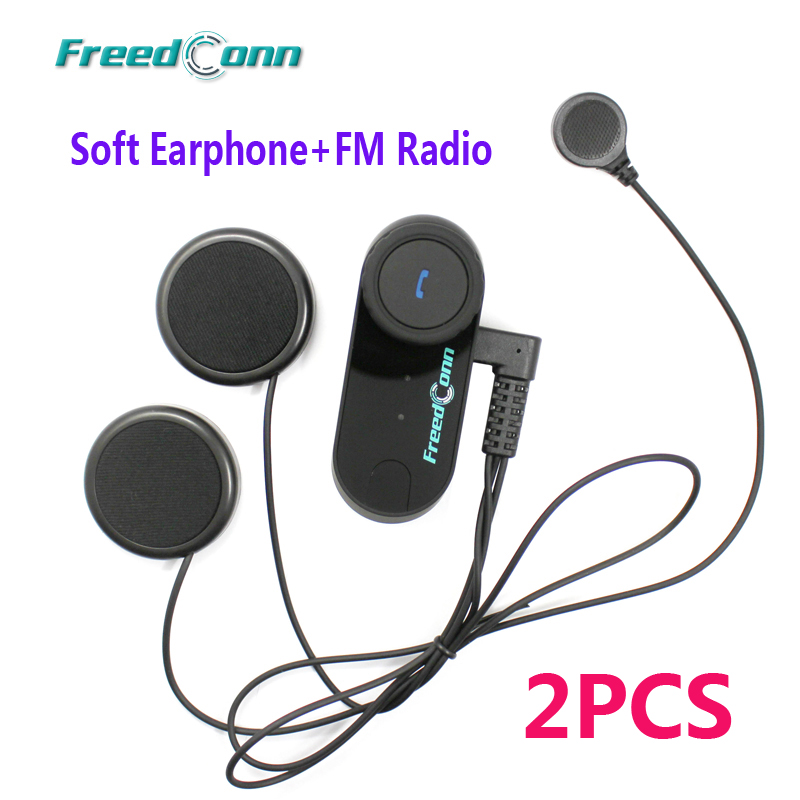 2pcs Soft Earphone Motorcycle Headphone Wireless Bluetooth Intercom Interphone Helmet Headset for Cellphone GPS 500m motorcycle helmet bluetooth headset wireless intercom