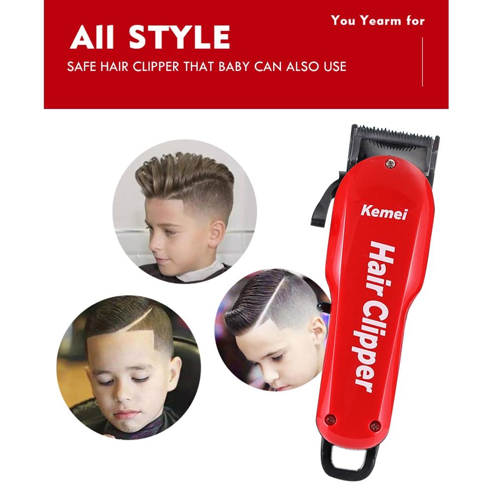 Image 3 - Kemei Barber Hair Clipper Professional Cordless Hair Trimmer for Men Beard Electric Cutter Oil Head Hair Cutting Machine Haircut-in Hair Trimmers from Home Appliances