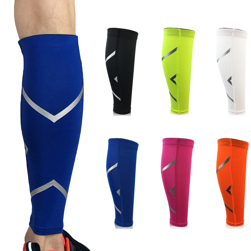 Sport Leg Socks Sleeve Support Lower Leg Breathable Reflective Strip Design  SPSLF0014