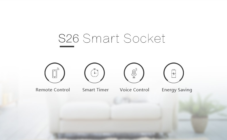 SONOFF S26 10A Smart WiFi Socket Timer Wireless remote control Outlet US/UK/AU/EU Wireless Plug Power Sockets Smart Home