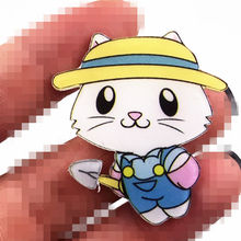 1Pcs Cartoon Cat Fish Dog Lovely Harajuku Painting Animals Badge for Clothes Acrylic Badges Icons on Backpack Pin Brooches gift(China)