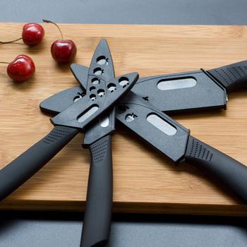Noże kuchenne ceramiczne 3 #8222 4 #8221 5 #8222 6 #8221 nóż szefa kuchni krojenie owoców czarny gotowanie noże narzędzia z osłona akcesoria kuchenne tanie i dobre opinie shuangmali Ce ue Zirconia Cztery częściowy zestaw Zestawy noży Zaopatrzony Ekologiczne Kitchen Knives Black Ceramic ABS TPR