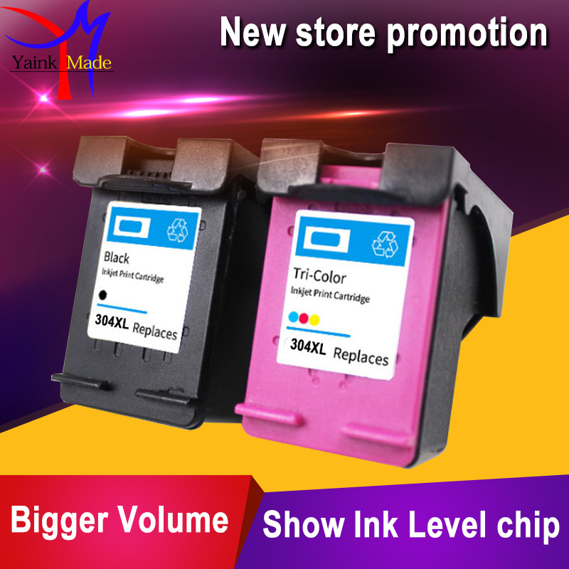 Black&Tri-colors Remanufactured Inkjet for HP 304 304XL Ink Cartridge Replacement for HP Deskjet 3700 3720 3730 3732 printers
