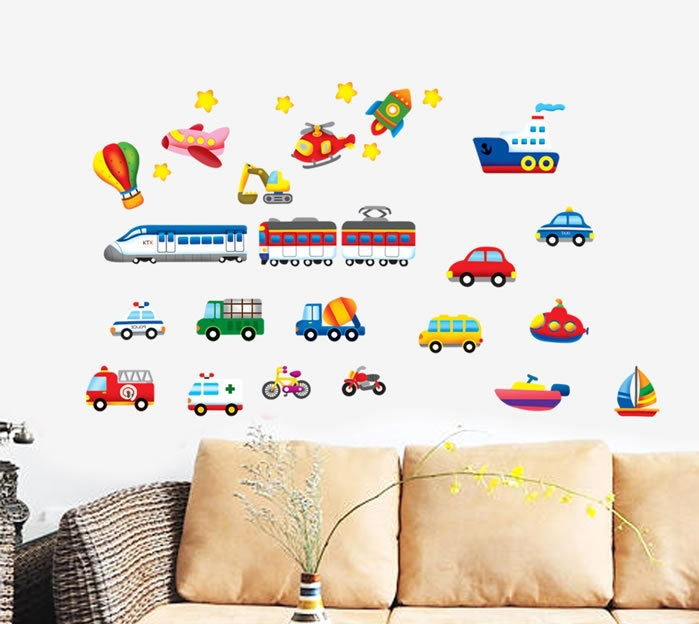 Aliexpress.com : Buy Creative Traffic Racing Cars Wall Stickers Decals Baby  Boy Child Bus Truck Vinyl Wallpaper Kids Rooms Nursery Home DIY Decor From  ... Part 93