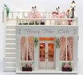 Diy Kits de Edificio Modelo de Juguete Del Niño de casa de Muñecas Casa de Muñecas En Miniatura De Madera 3D Hecho A Mano Pastel de Cumpleaños Regalo de Navidad-Tiempo Hoeny