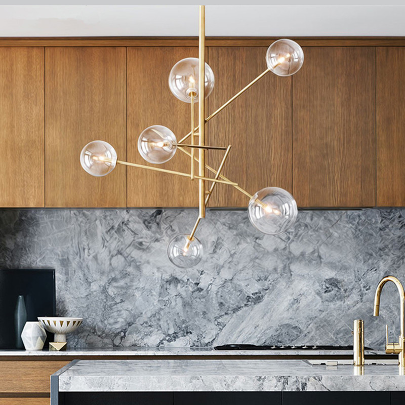 Nordic Magic Beans Pendant Light Concise Glass Ball Italy