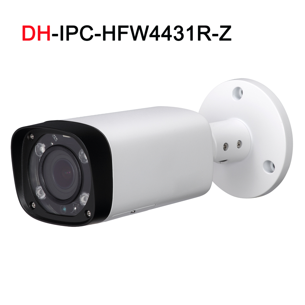 4MP IP IPC-HFW4431R-Z Newwork Camera 2.7-13.5mm VF lens IP67 Bullet Network Camera with POE Outdoor IP Camera free shipping dahua english vewrsion 4mp wdr network vandalproof bullet ip camera with fixed lens ip67 ipc hfw4421e 3 6mm lens