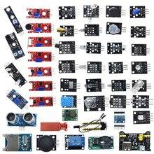 Arduino için 45 in 1 sensörler modülleri başlangıç kiti daha iyi 37in1 sensör kiti 37 in 1 sensör kiti UNO r3 MEGA2560