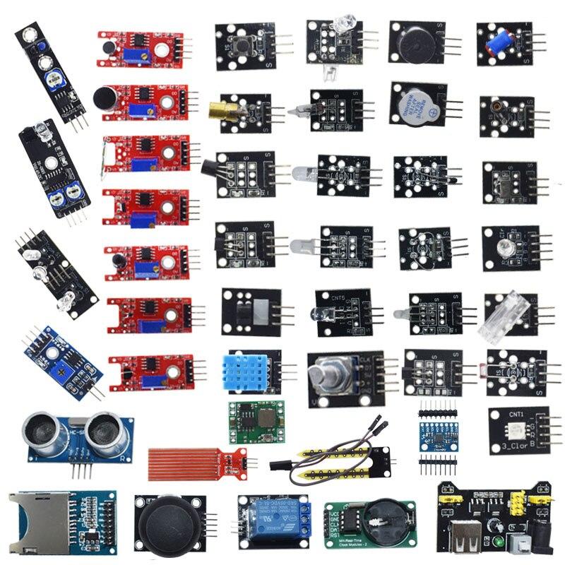 Para arduino 45 em Módulos de Sensores 1 Starter Kit melhor do que o Sensor de sensor kit 37 em 1 37in1 Kit UNO r3 MEGA2560