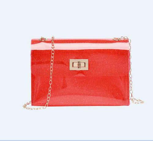 Çanta Tote Rahat Çapraz Çanta askılı çanta Kadın Şeffaf PVC Temizle Çapraz Vücut postacı çantası Kadın Mini Çanta