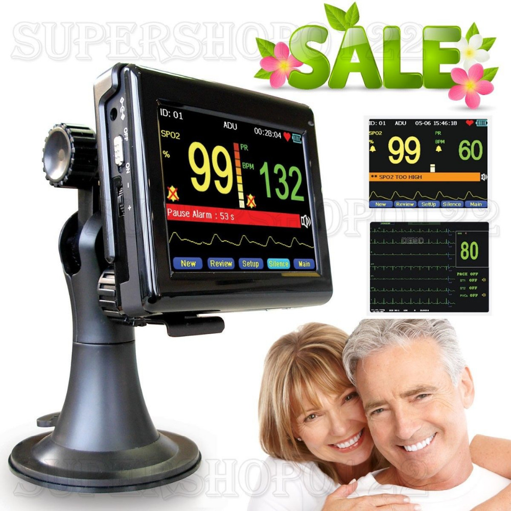 CONTECMED CONTEC Touch Screen Handheld portable Patient Monitor for PM60A SPO2 CE contec ec80a cms80a pc software handheld portable ec electronics machine ecg80a portable heart monitor holter medical equipment