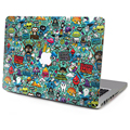 For Apple Macbook Decal Sticker Hip-Hop Cartoon Air Pro with or without Retina display Left Right Brain Skin Laptop