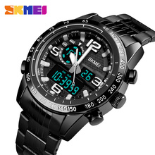 SKMEI Men Watch Digital Quartz Sports Watches Waterproof Countdown Stainless Steel Wrist Watch Men Clock Relogio Masculino 1453 mens watches top luxury brand sports watch skmei countdown stainless steel strap quartz wristwatch men clock relogio masculino