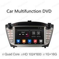 2 DIN Android 4.4 сенсорный Панель GPS NAVI CAR DVD Радио плеер для Hyundai ix35 Tucson 2009 2015 4 ядра Зеркало Ссылка WIFI BT